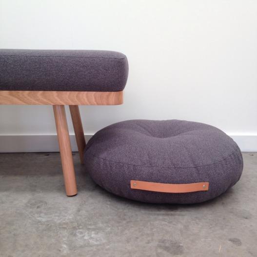 Floor cushion on floor